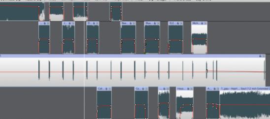 screenshot of MixPad project